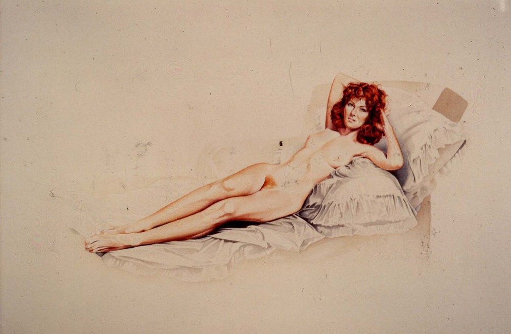 Mel Rmos,  Paintings 1964 -1978 , 28 ottobre 1987   Goyum Goya , 1976, watercolour, cm 55 x 75