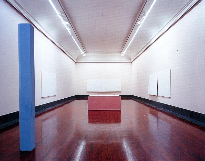 Ettore Spalletti, installazione al Museo di Capodimonte, Napoli, settembre 1999