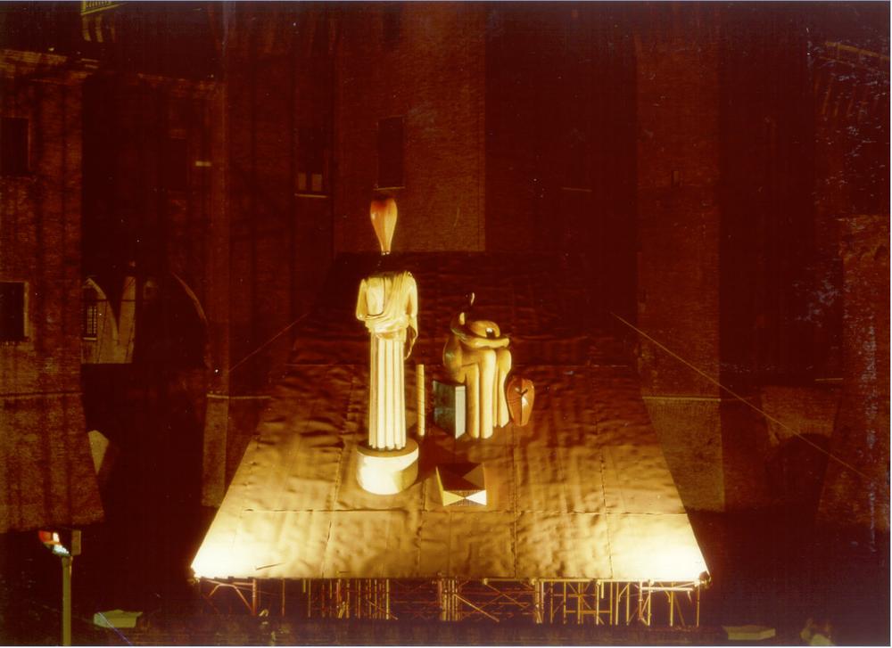 Ferrara, De Chirico, da  Peasaggio italiano,  1986,   ed. 1/3