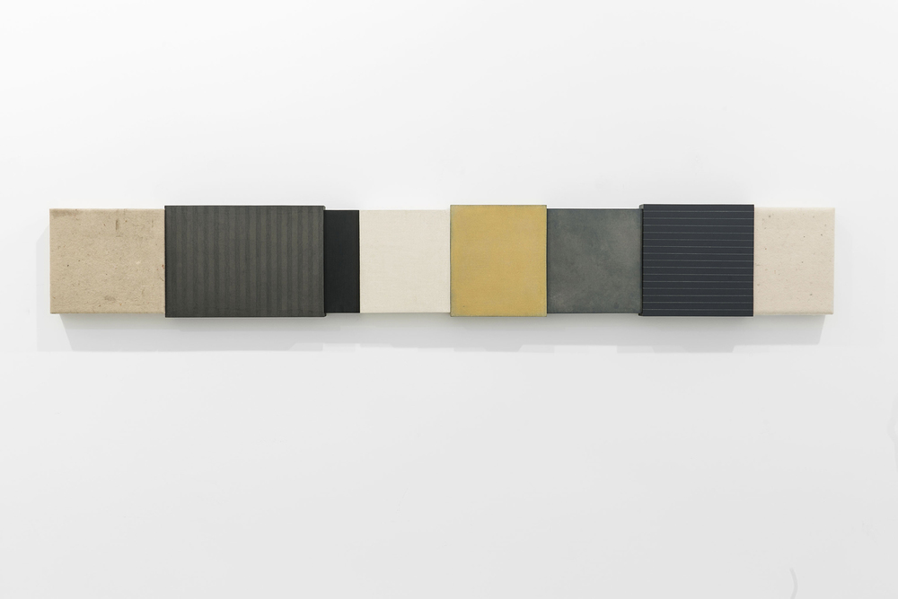 Senza titolo , 2014 Tecnica mista su tavola, cm 192,5 x 27,5