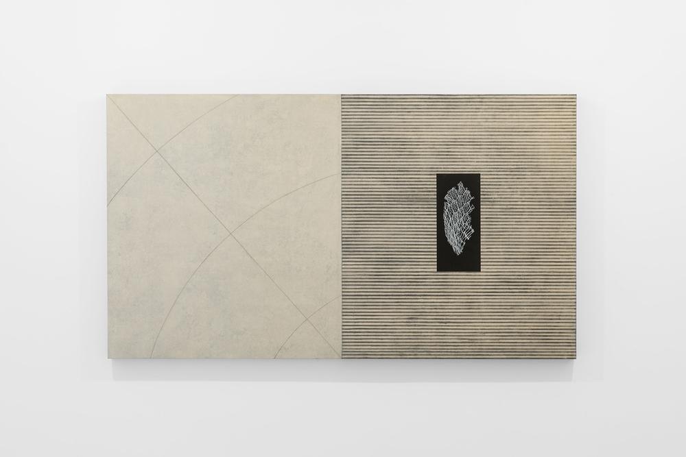 Corpi fragili , 2014 Tecnica mista su tela e legno, cm 120 x 214