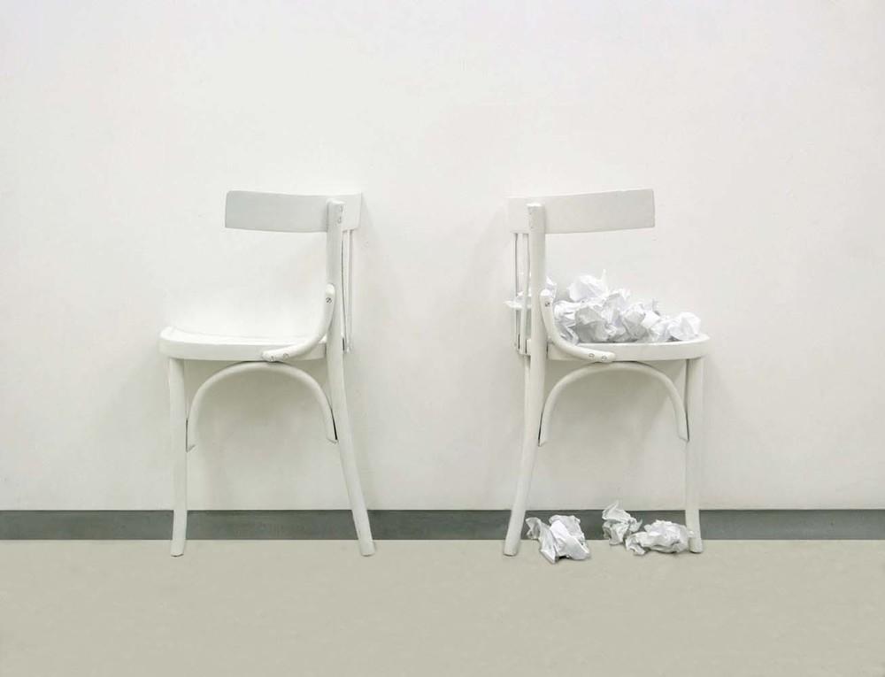 Marisa Albanese, S.07 , 2010, alluminio e carta \ aluminum and paper,cm 125x80x25