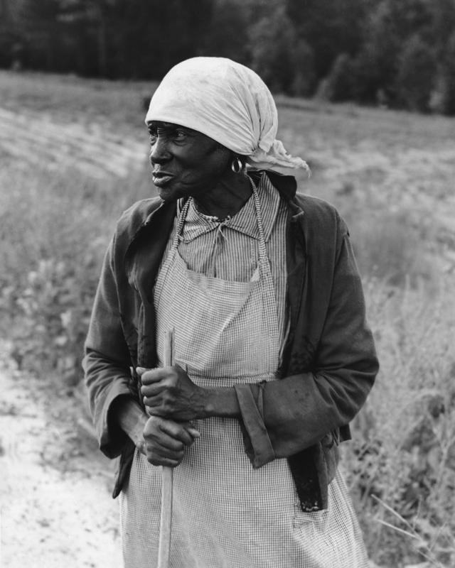 Dorothea Lange,  Ex-Slave with a Long Memory , Alabama, 1937, cm 32x40, framed cm 55x55