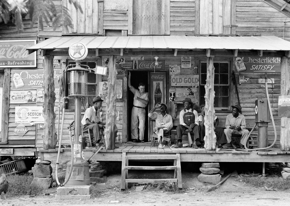 Dorothea Lange,  Crossroads Store,  Alabama, 1938 ca, cm 28,5x40, framed cm 81x66