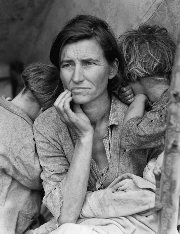 Dorothea Lange,  Migrant Mother , Nipomo, San Luis Obispo County, California, 1936, cm 54x70, framed cm 81x66
