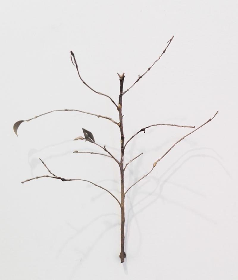 Marisa Albanese, Paesaggio , 2015, bronzo bianco, cm 20x20x10