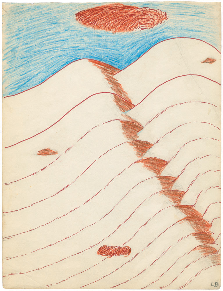 Untitled , 1970, colored pencil, ink and pencil on paper, 29.5 x 22.9 cm Ph Christopher Burke © The Easton Foundation/SIAE