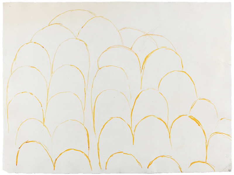 Cumuls , 1972, watercolor on paper, 66 x 88.9 cm Ph Christopher Burke © The Easton Foundation/SIAE