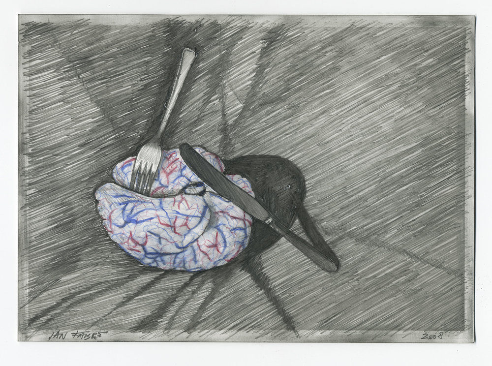 My mother tastes good , 2008, HB pencil and colour pencil on photographic paper, 12,7x17,7 cm                                                   Ph. Mario Gastinger © Angelos bvba