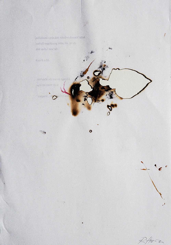 Senza titolo , 2003 Tecnica mista su carta  cm 29,5 x 20,5 framed cm 48,5 x 38