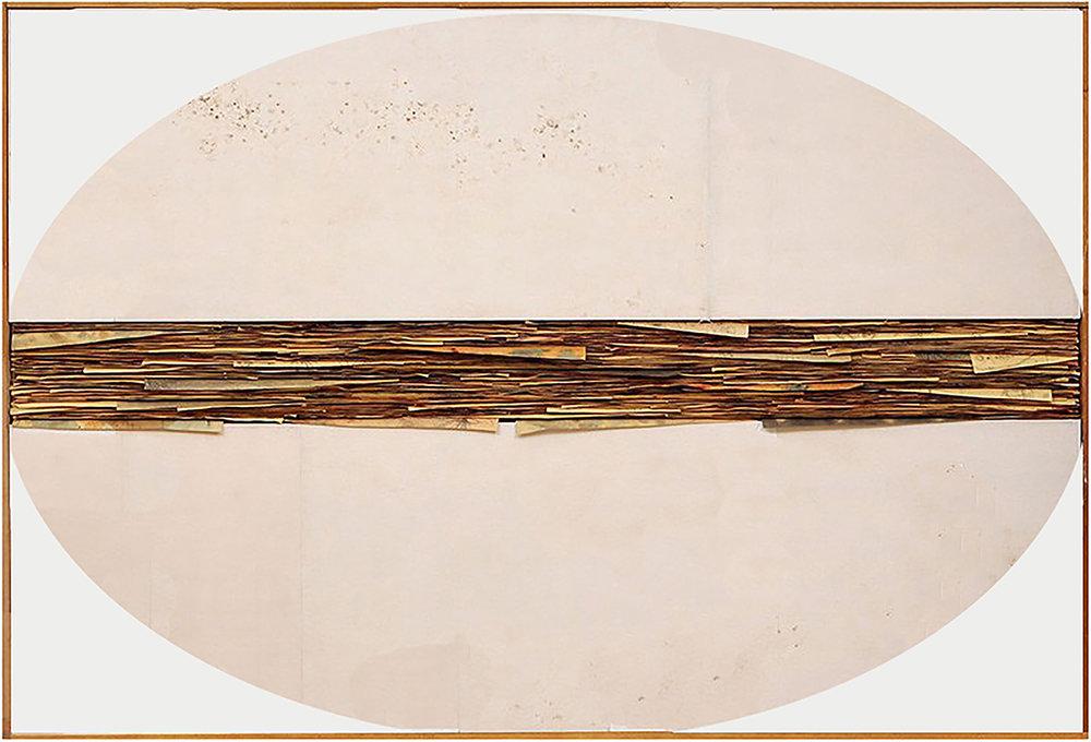 Senza Titolo , 2016, tecnica mista su tela e carta, cm 150x220