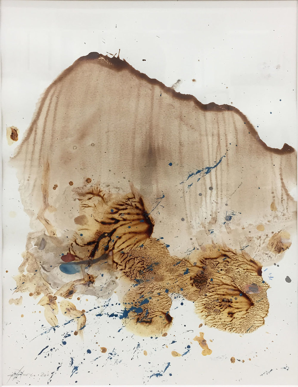 Untitled , 2009, pencil and acrylic on paper, 39,5x29,5 cm, framed 63x50 cm