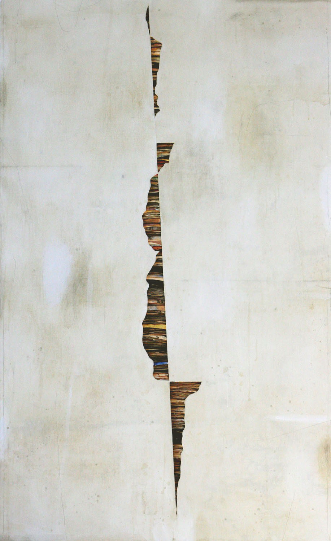 Senza titolo , 2016, tecnica mista su carta e tela, cm 200x120