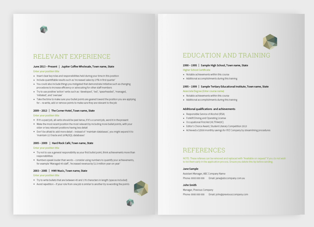 My first resume  Career FAQs