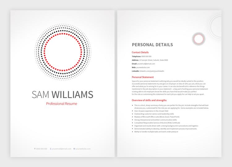 bullseye template pure resume