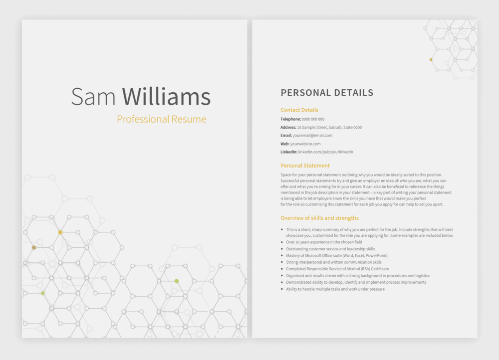8 new resume templates with matching cover letters