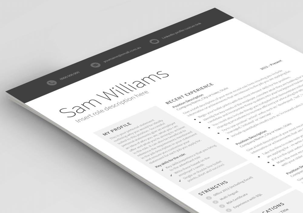 classic template  u2014 pure resume