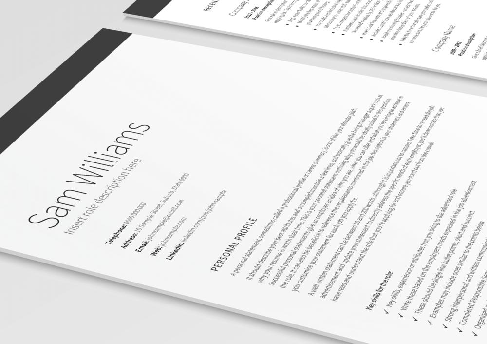 executive classic resume