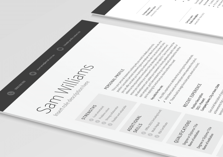 Classic 2 Page Resume 3D Cropped