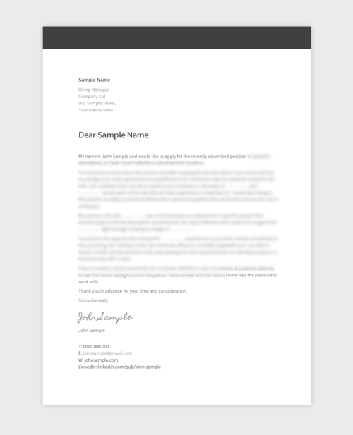 Cover Letters Pure Resume