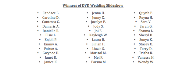 DVD Slideshow Winners