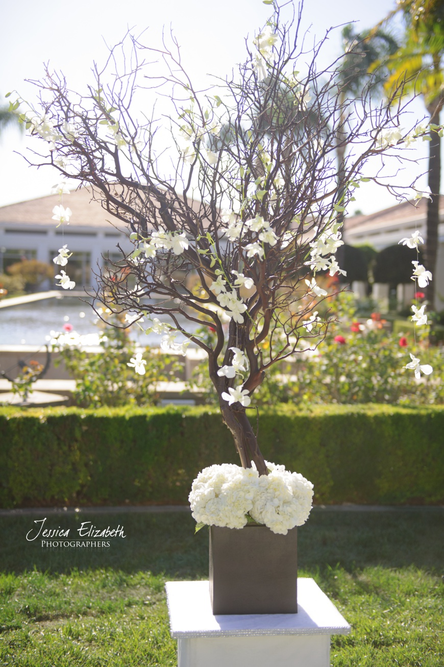 White Ceremony Floral Arrangements