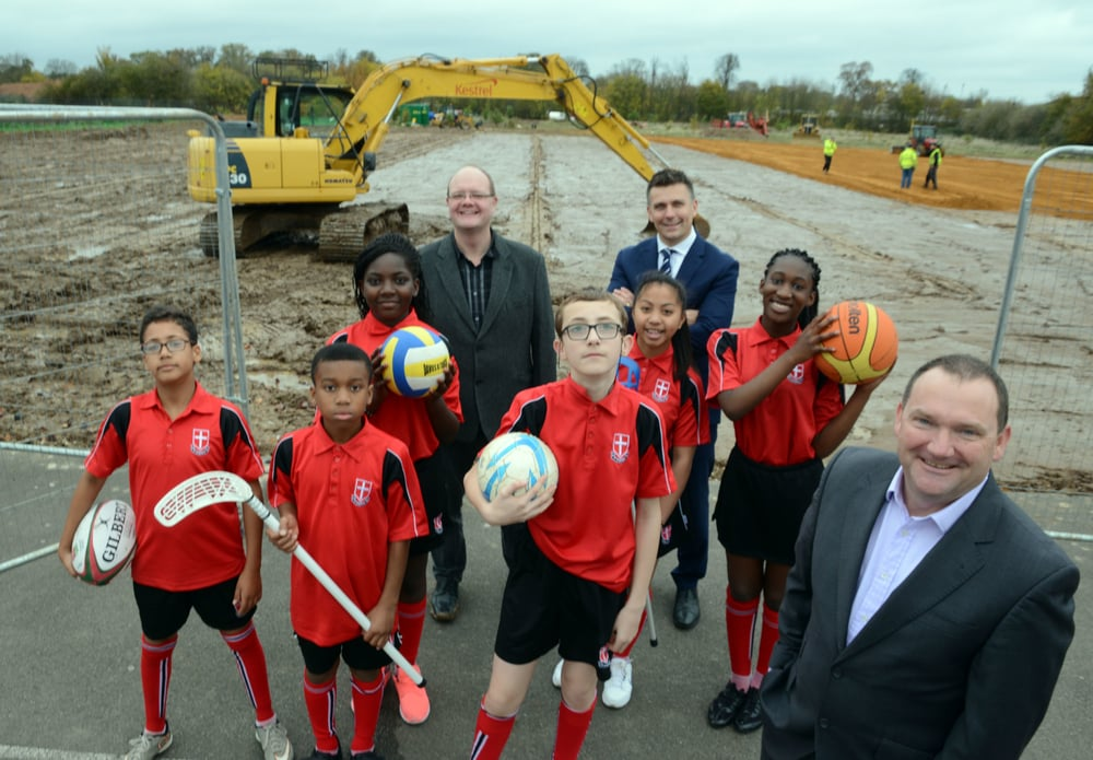 Breaking ground for the new community pitches and sports stadium at Arbour Park