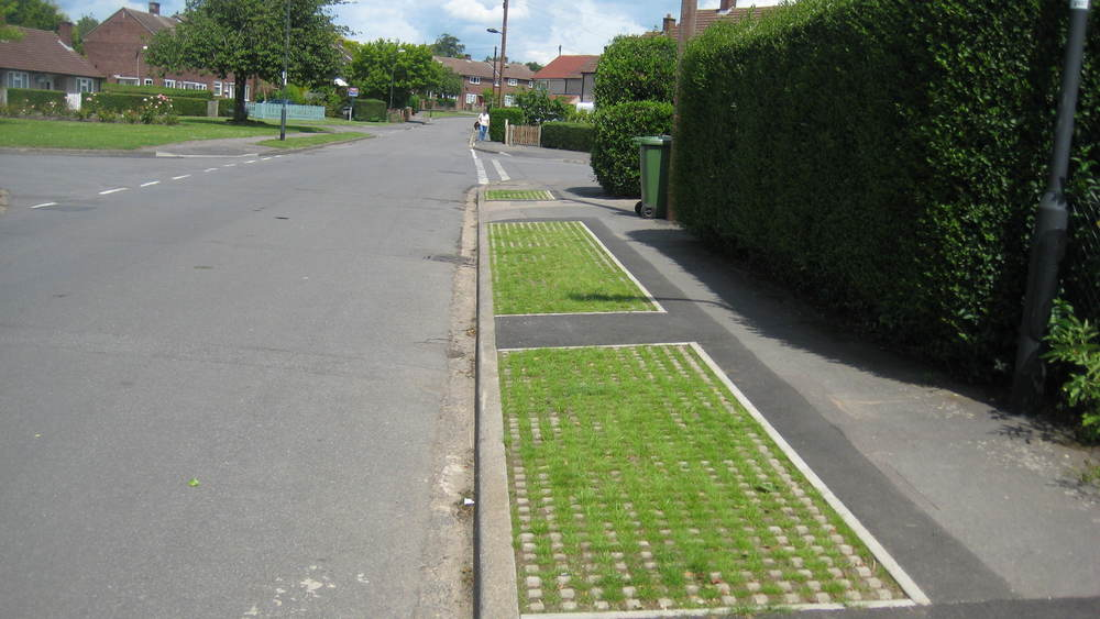 new grasscrete on Almons Way provided as part of 2015/16 Community Investment Fund