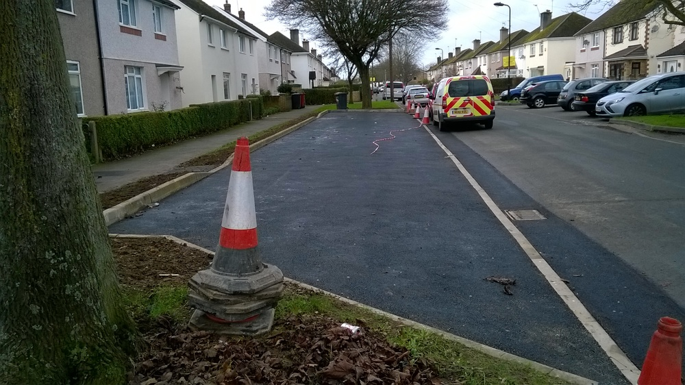 new parking bays have been installed across the Borough
