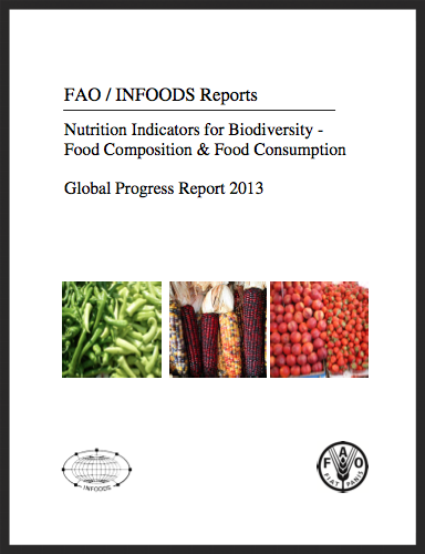 FAO global progress report 2013. Nutrition Indicators for Biodiversity - Food Composition & Food Consumption