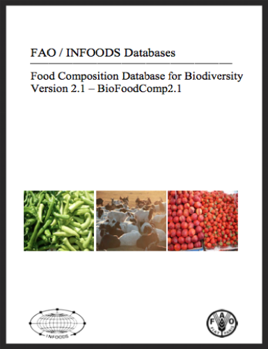 FAO/INFOODS. Food composition database for biodiversity. A compendium of analytical data on wild & underutilised foods.
