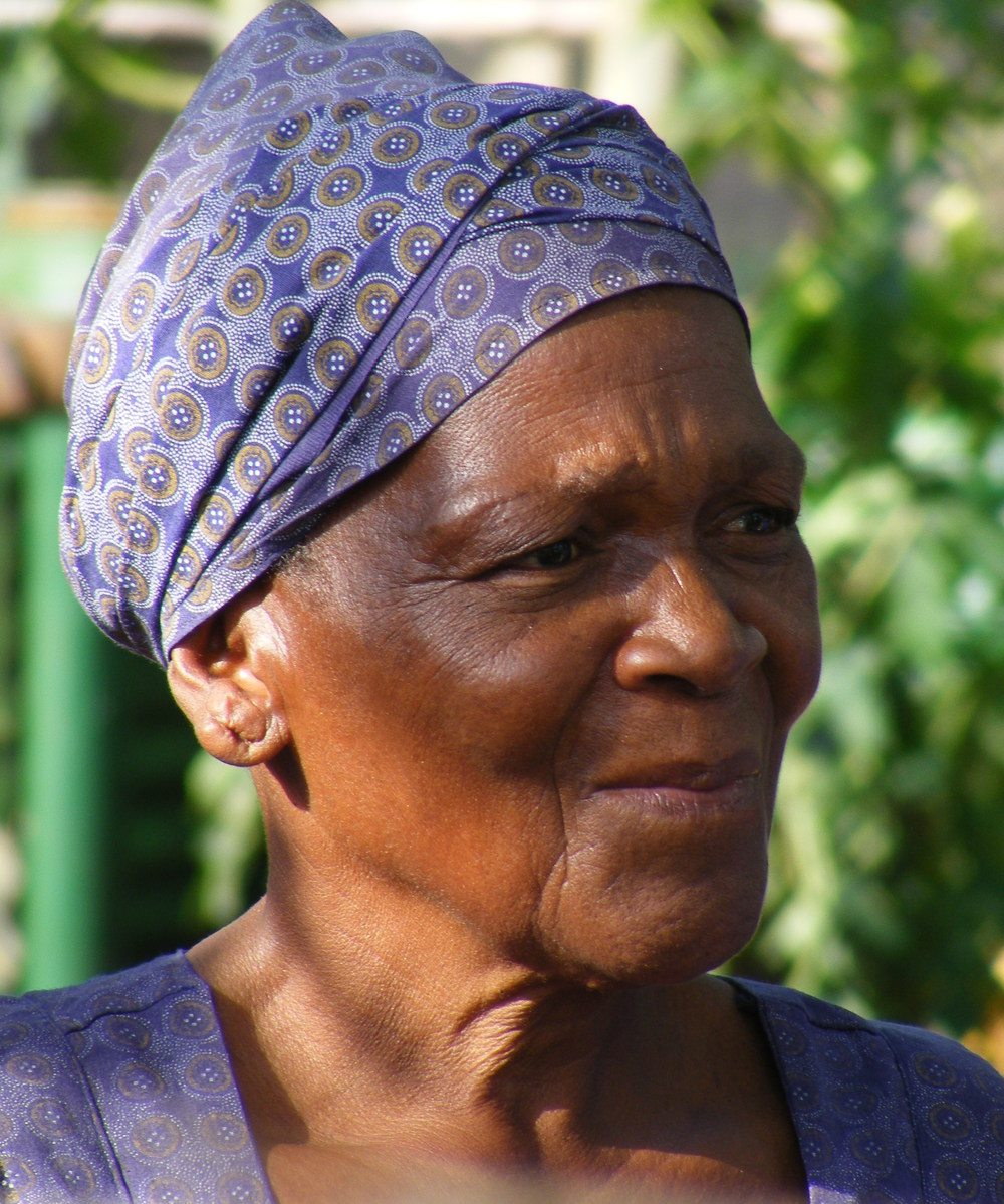 Elizabeth Ndlovu:   'I am an old woman … but my spirit is now happy that towards the end of my life, I am a shining light in my community'.