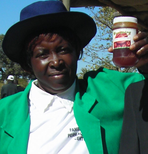 Beauty Katsenga:  'Our organic association Evergoing produced 4 crates of tomatoes which I took to market in Harare. It was a long journey on a hot bus. By the time I got there the tomatoes were not good. I was offered only $8 - $2 per crate by the middleman! We had just had our training in value addition and learned how to make jams. So I came home with our tomatoes and we made them in to jam. We made 80 jars and sold them locally for $2 a jar. We now have created our own label, and are marketing our jam. '