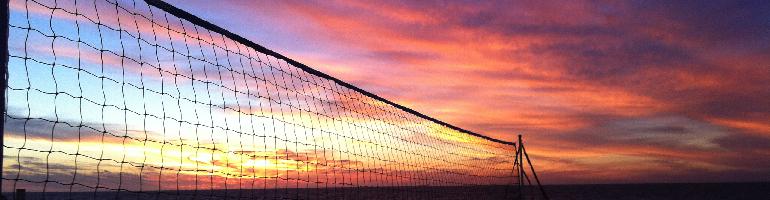 Beach Volleyball Net Sunset Australian beach volleyBeach Volleyball Sunset