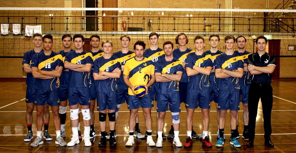 UWA Volleyball Club Super League Men's Squad for the 2018 WAVL season