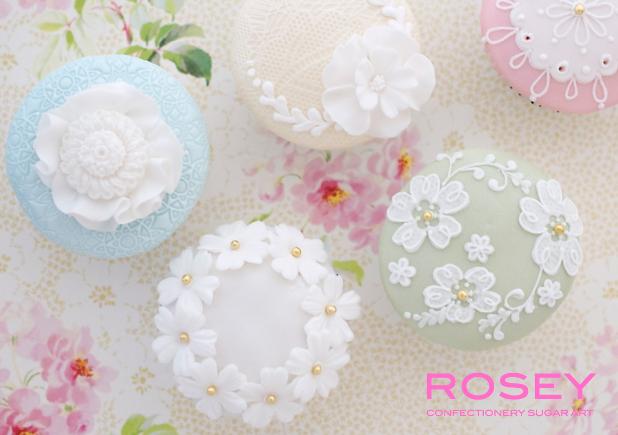 """2015デザイン   CUPCAKES """"FLOWER & LACE"""" カップケーキ・  デコレーション  レベル:★☆☆"""