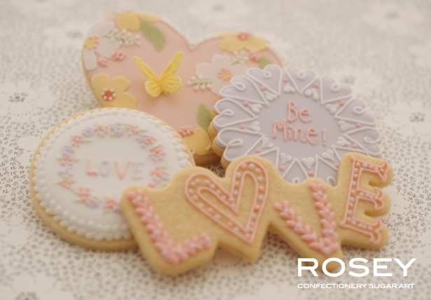 """2015デザイン   ICING COOKIES """"VALENTINE""""  アイシングクッキー・   デコレーション   レベル:★☆☆"""