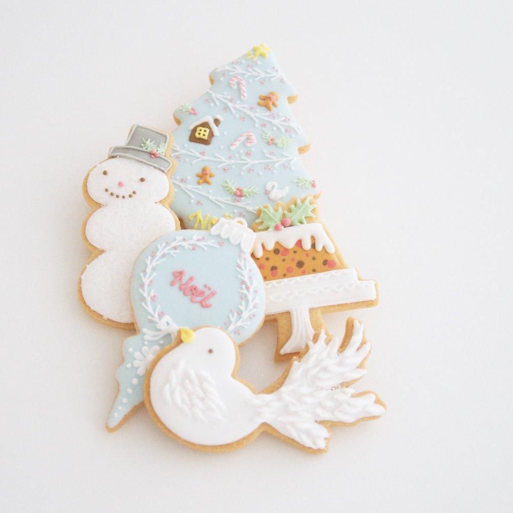 "XMAS ICING COOKIES  アイシングクッキー  ""Noël""  レベル:★☆☆"