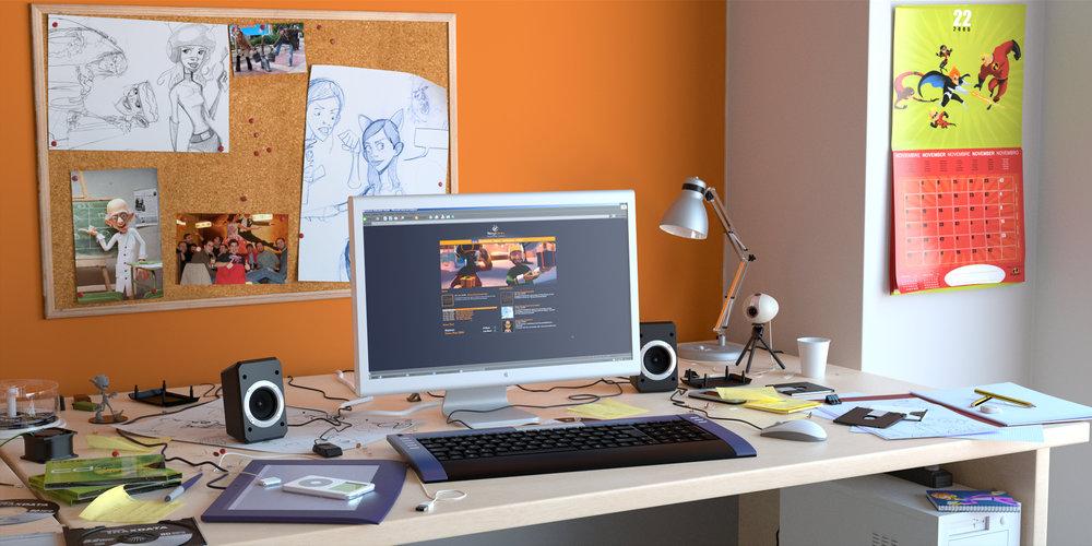 Work Desk Jonatan Catalan Navarrete