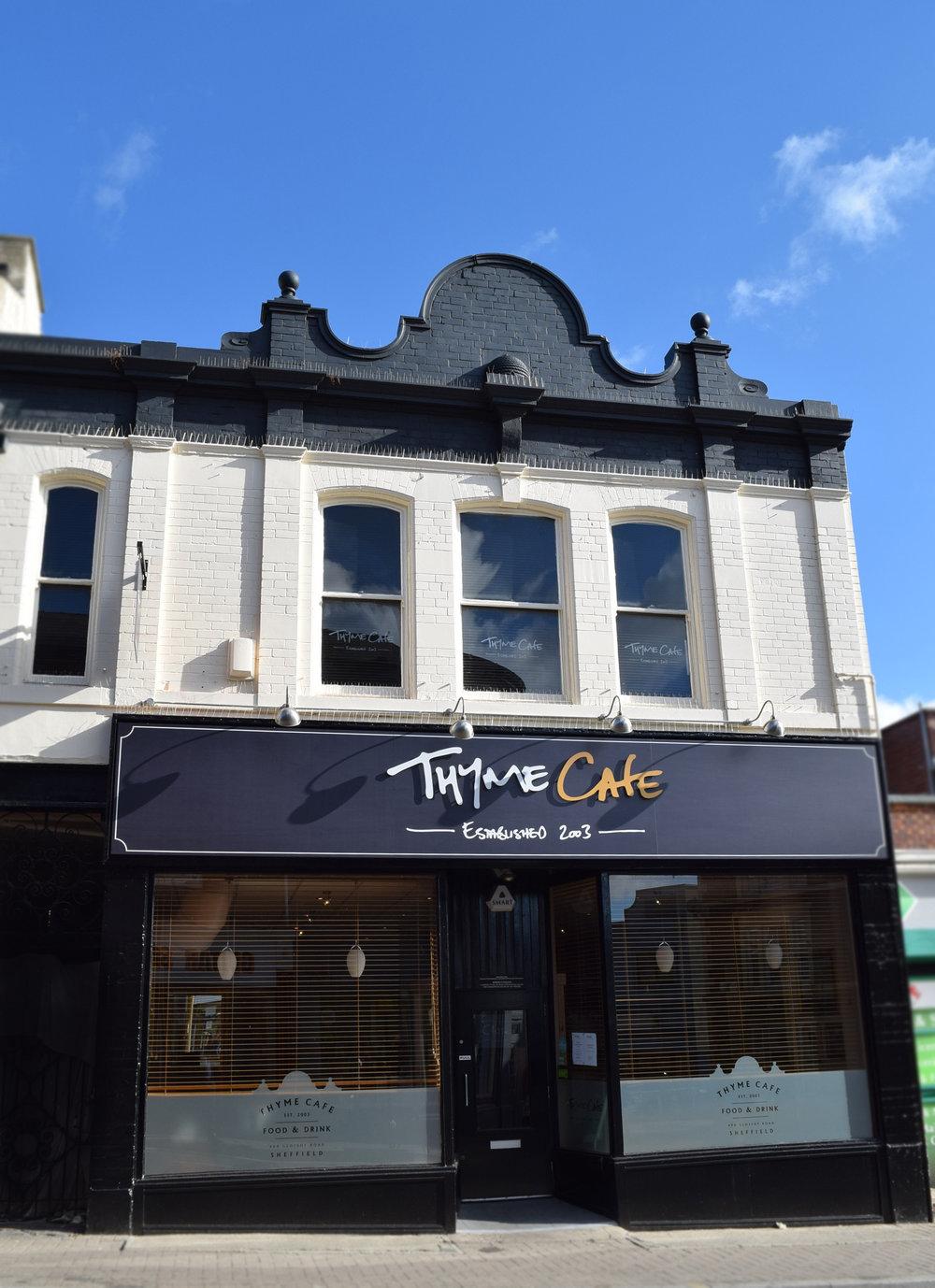 Thyme Cafe Branding, Signage & Website  www.thymecafe.co.uk