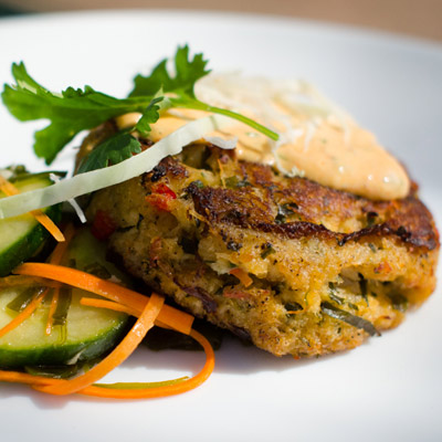 Kelp-Crab Cakes by Chef Jourdan Simon, Black Tie