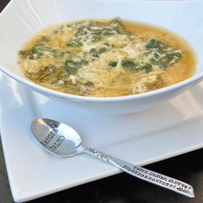 Paleo Stracciatella - Egg Drop Soup by Mangia Paleo