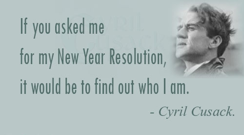 my new years resolution would be to find myself