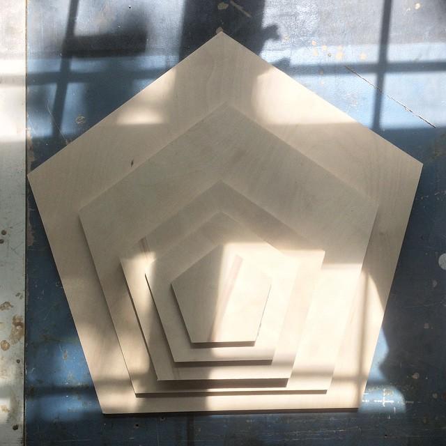 Pentagones #designmtl #prototypes #mtl #wood  #pentagones
