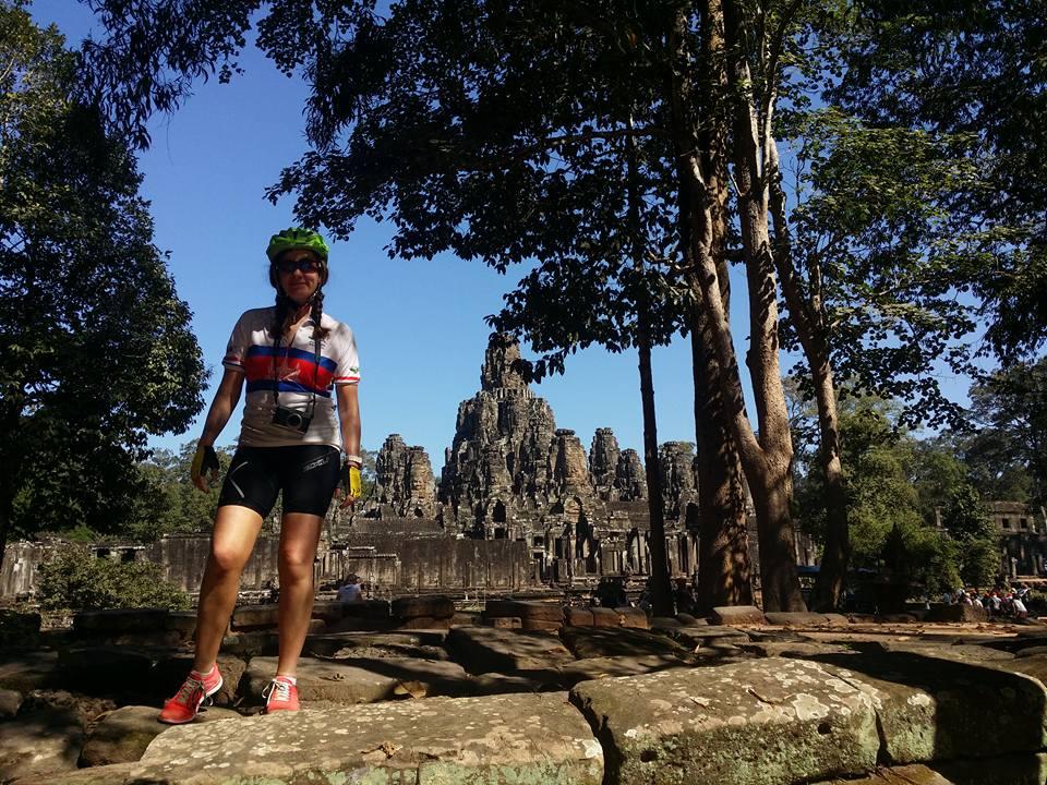 Clare in Ankor Wat