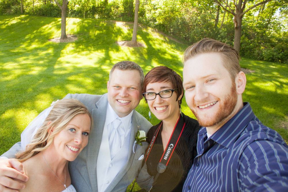 June 2015. Selfie with the bride and groom! ;)