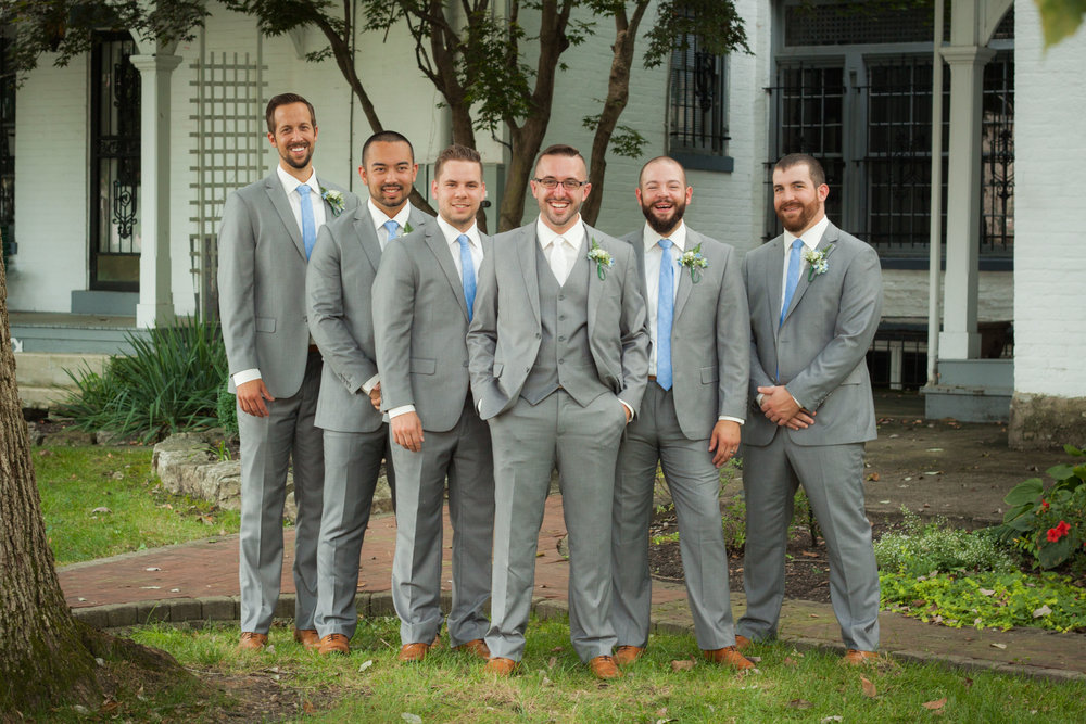 The groom and his hilarious bunch of groomsman.