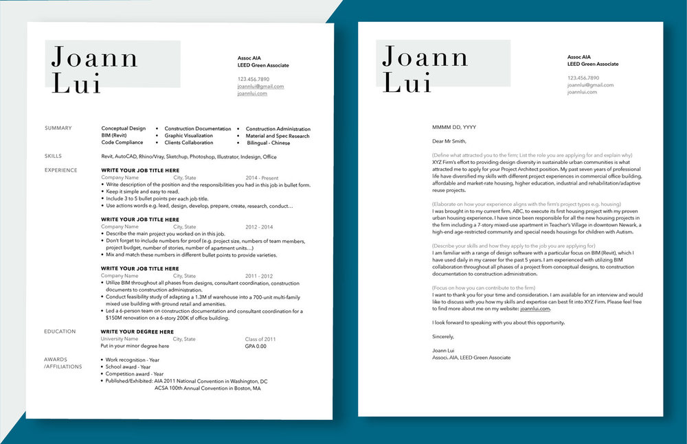 FREE ARCHITECTURAL RESUME TEMPLATE