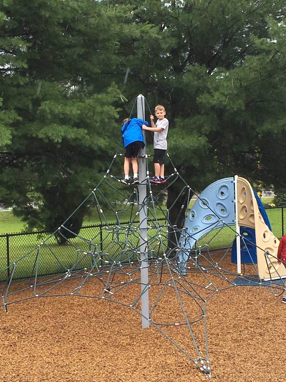 Reviewers raced to the top of every available structure at Highlands Community Playground.