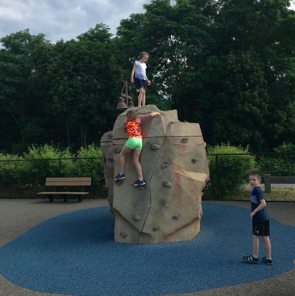 Reviewers recommend having a plan to get down before you attempt the climbing rock. It was touch-and-go for a moment there.